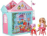 Barbie : Barbie Club Chelsea Playhouse - Barbie dukke DWJ50