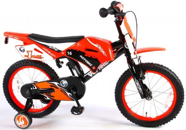 Billede af Børnecykel Motorbike Rød 16 tommer