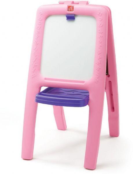 Image of Staffeli med tavle og whiteboard pink (191-799992)