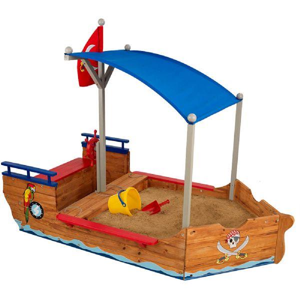 Image of Pirat Sandkasse båd i træ (226-000128)