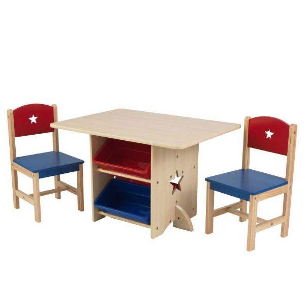 Image of Stjerne Legebord med 2 stole (226-026912)