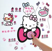 Hello Kitty : Hello Kitty Wallstickers Ringeklokke - Hello Kitty Børneværelse 650981