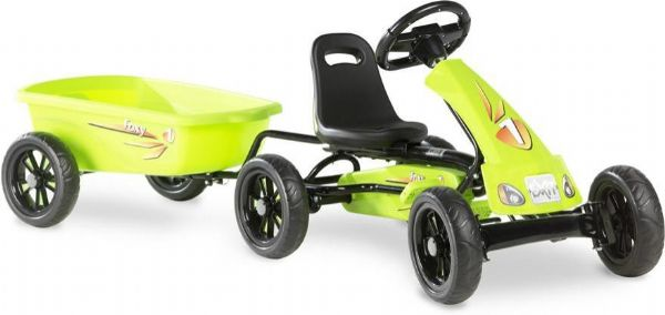 Image of Pedal Go-kart Foxy Green m. trailer (267-707282)