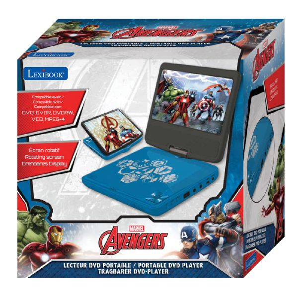Image of Avengers Bærbar DVD afspiller (292-054094)