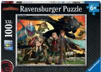 Puslespil : Dragon Friends 100 brikker - Ravensburger Dragons puzzle 109180