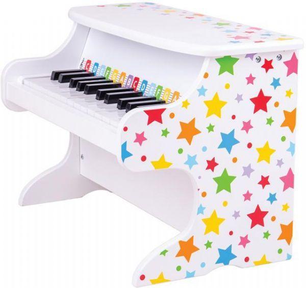 Image of Hvidt klaver med stjerner (380-000927)
