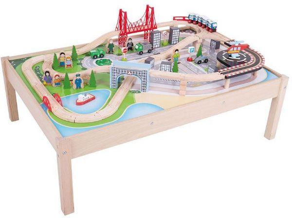 Image of Legebord med togbane 59 dele (380-090459)