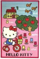 Hello Kitty : Hello Kitty gulvtæppe - Hello Kitty Børnemøbler 711651