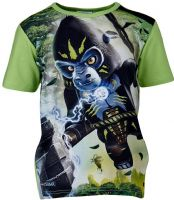 T-shirt : Lego Wear T-shirt - Børnetøj Dusty Green 15834-838