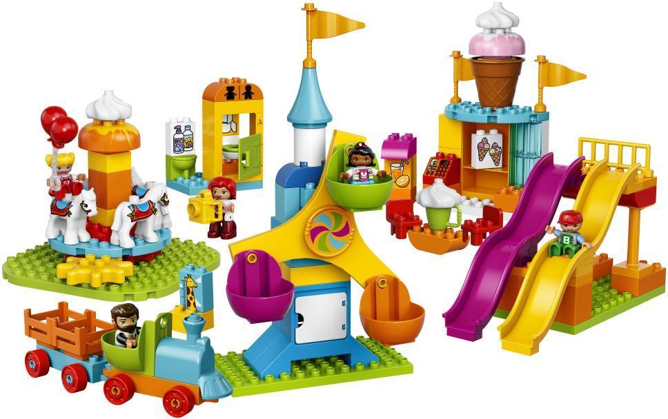 lego duplo – Stor forlystelsespark - lego duplo 10840 town på eurotoys