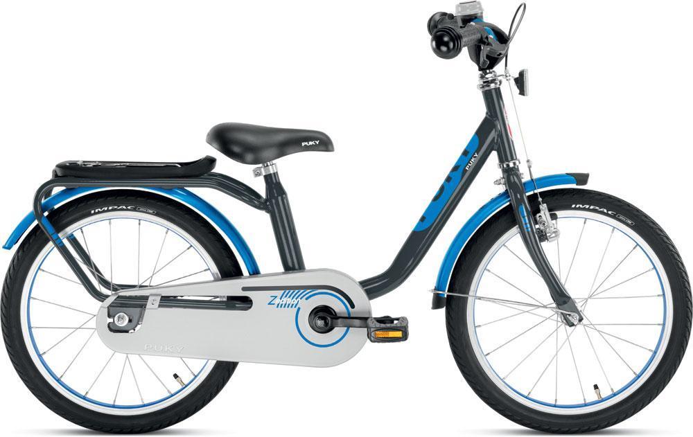 Image of Børnecykel grå/blå 18 tommer - Puky børnecykel z8 4314 (04-004314)