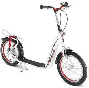 Løbehjul med lufthjul hvid - Løbehjul med lufthjul hvid