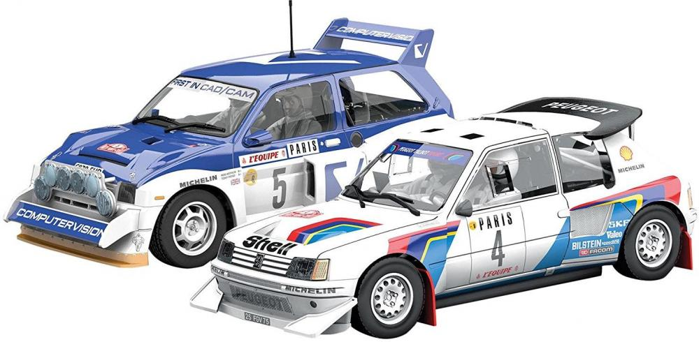 Image of Monte Carlo Rally Peugeot 205 T16 E2 and - Scalextric Biler C3590A (07-0C3590A)