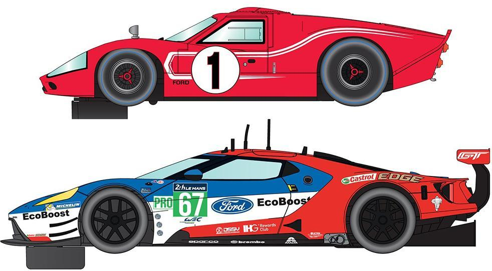 Image of 50 Years of Le Mans Ford GT MKII and GTE - Scalextric Biler C3893A (07-0C3893A)