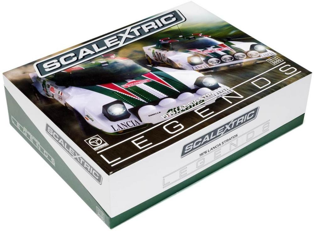 Image of Lancia Stratos 1976 Rally Champions Twin - Scalextric Biler C3894A (07-0C3894A)