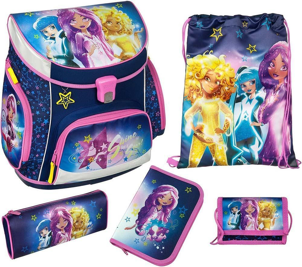 Image of Star Darlings Skoletaske sæt 5 dele - Star Darlings Skoletaske 8252 (09-008252)