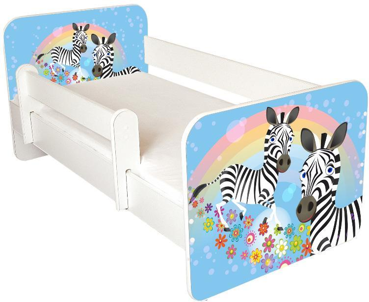 Juniorseng Zebra m. skuffe & madras - Juniorseng Zebra m. skuffe & madras