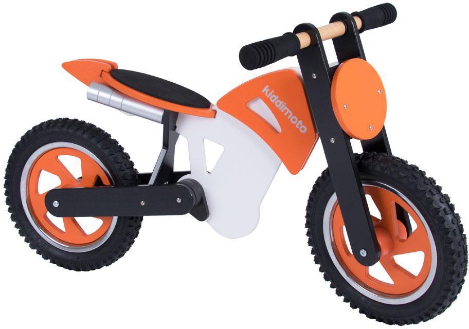 Image of Kiddimoto Scrambler - Orange/Hvid - Løbecykel 720233 (09-720233)