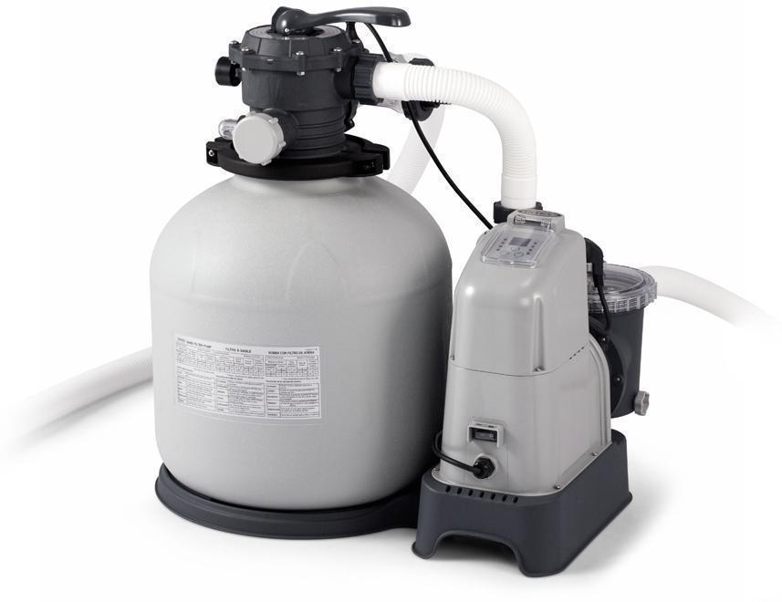 Image of Sandfilter og saltvandssystem 56.800 lt - Intex pumpe 28680 (101-028680)