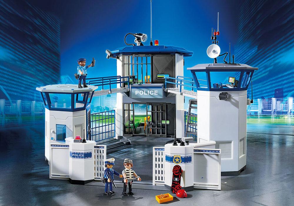 Image of Politihovedkvarter med fængsel - Playmobil politistation 6919 (13-006919)