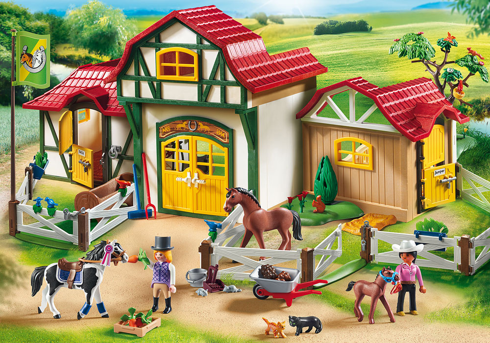Image of Ridecenter - Playmobil Hestestald 6926 (13-006926)