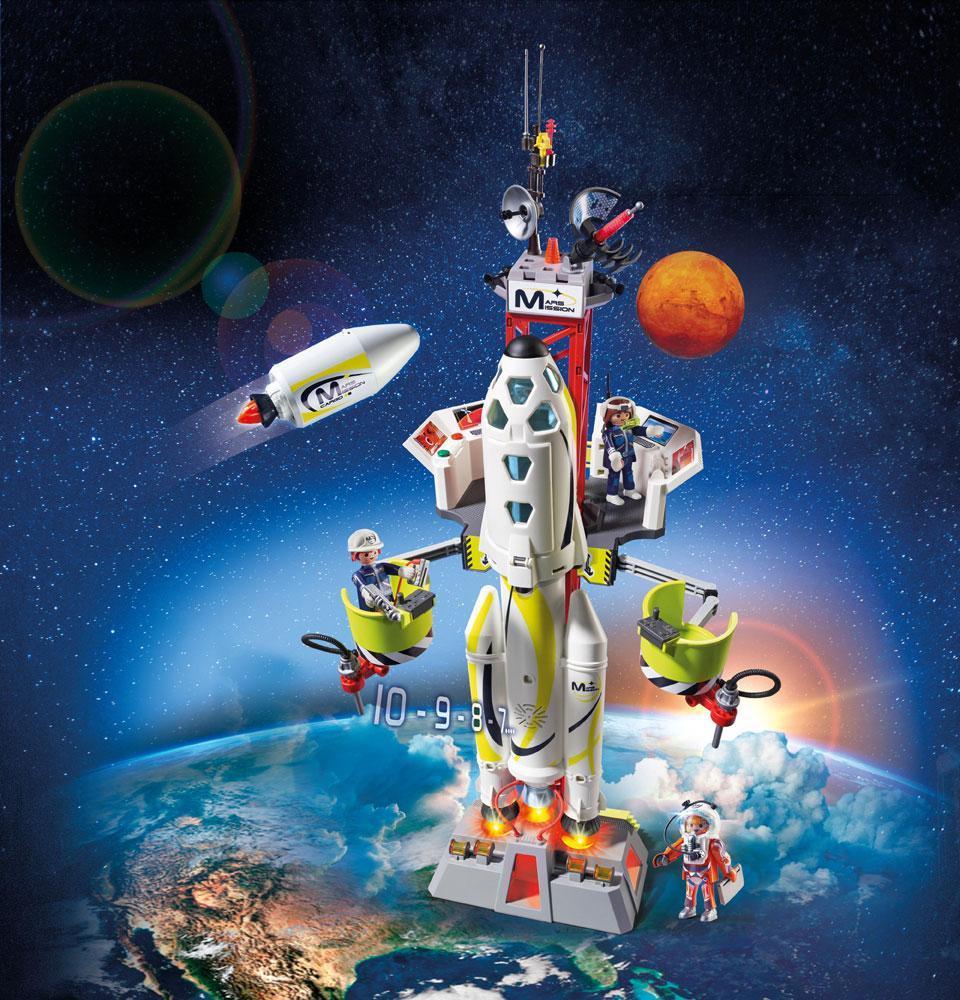 Mars Raket med affryringsrampe - Mars Raket med affryringsrampe