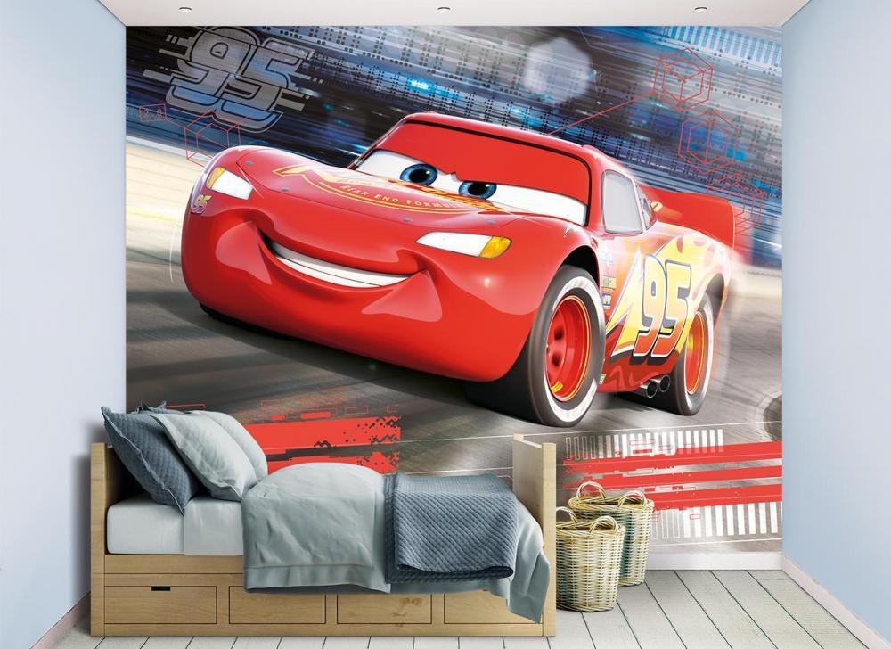 Image of Lynet McQueen tapet - Walltastic Disney Cars 3D tapet 45378 (140-045378)