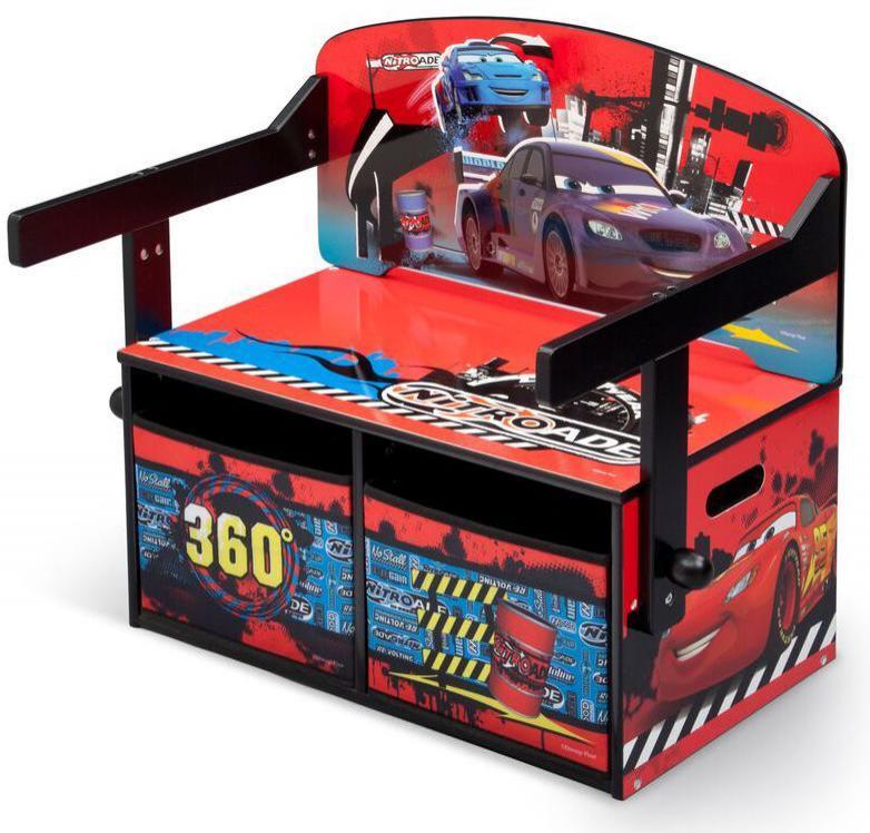 Image of Cars 3 i 1 bænk og bord - Disney Lynet McQueen børnemøbler 304318 (140-304318)