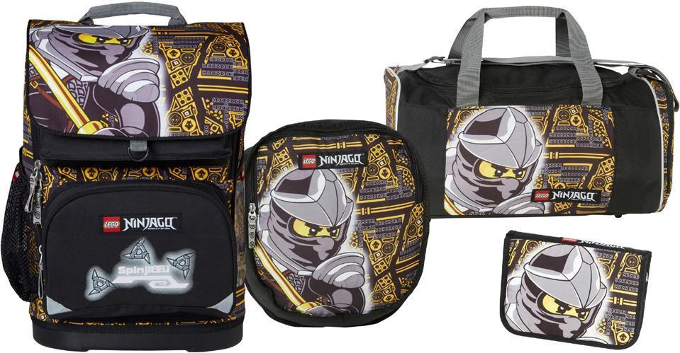 Image of Ninjago Cole skoletaskesæt 4 dele - Lego skoletaske 451714 (142-451714)
