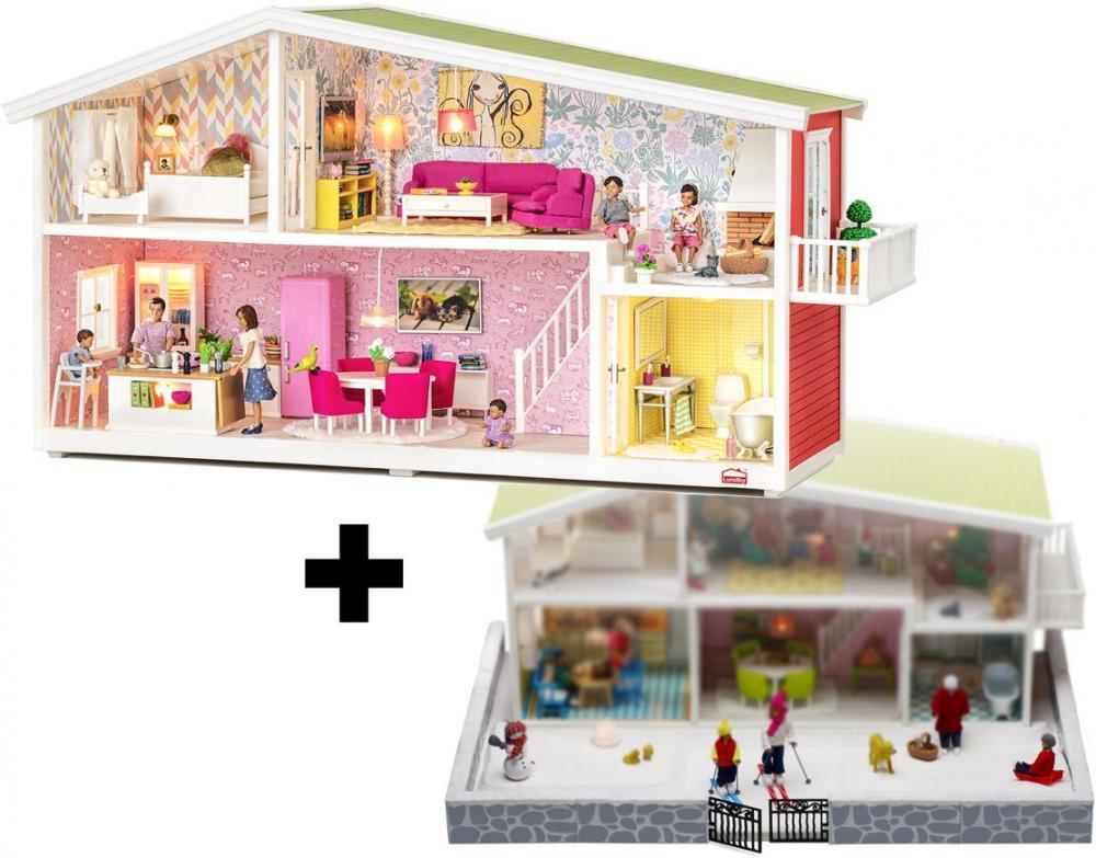 Classic dukkehus med vinterhave - Classic dukkehus med vinterhave