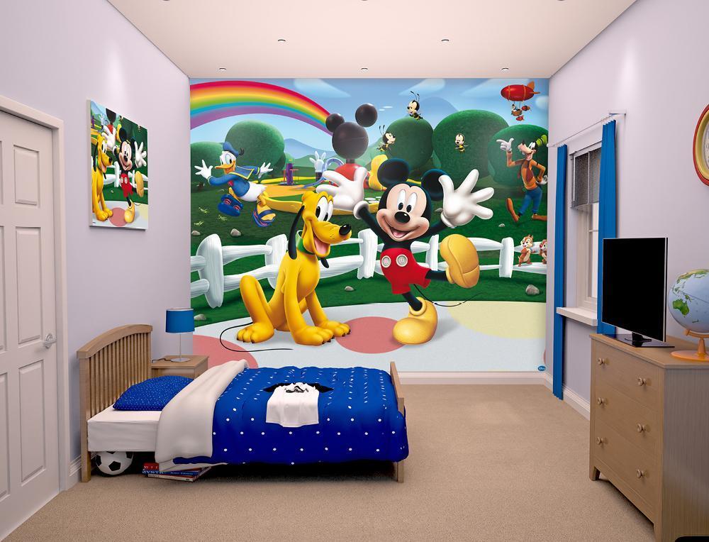 Image of Mickey Mouse tapet - Walltastic Disney 3D børnetapet 42056 (175-042056)