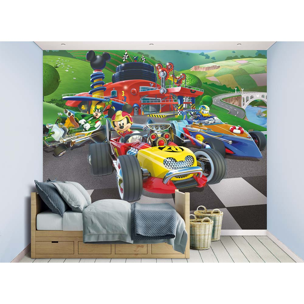 Image of Mickey Mouse tapet - Walltastic Disney 3D børnetapet 45293 (175-045293)