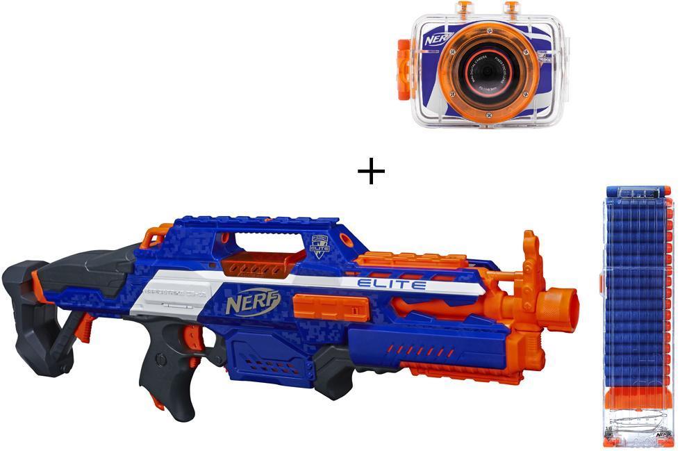 Nerf N-Strike Elite Rapidstrike + kamera - Nerf N-Strike Elite Rapidstrike + kamera