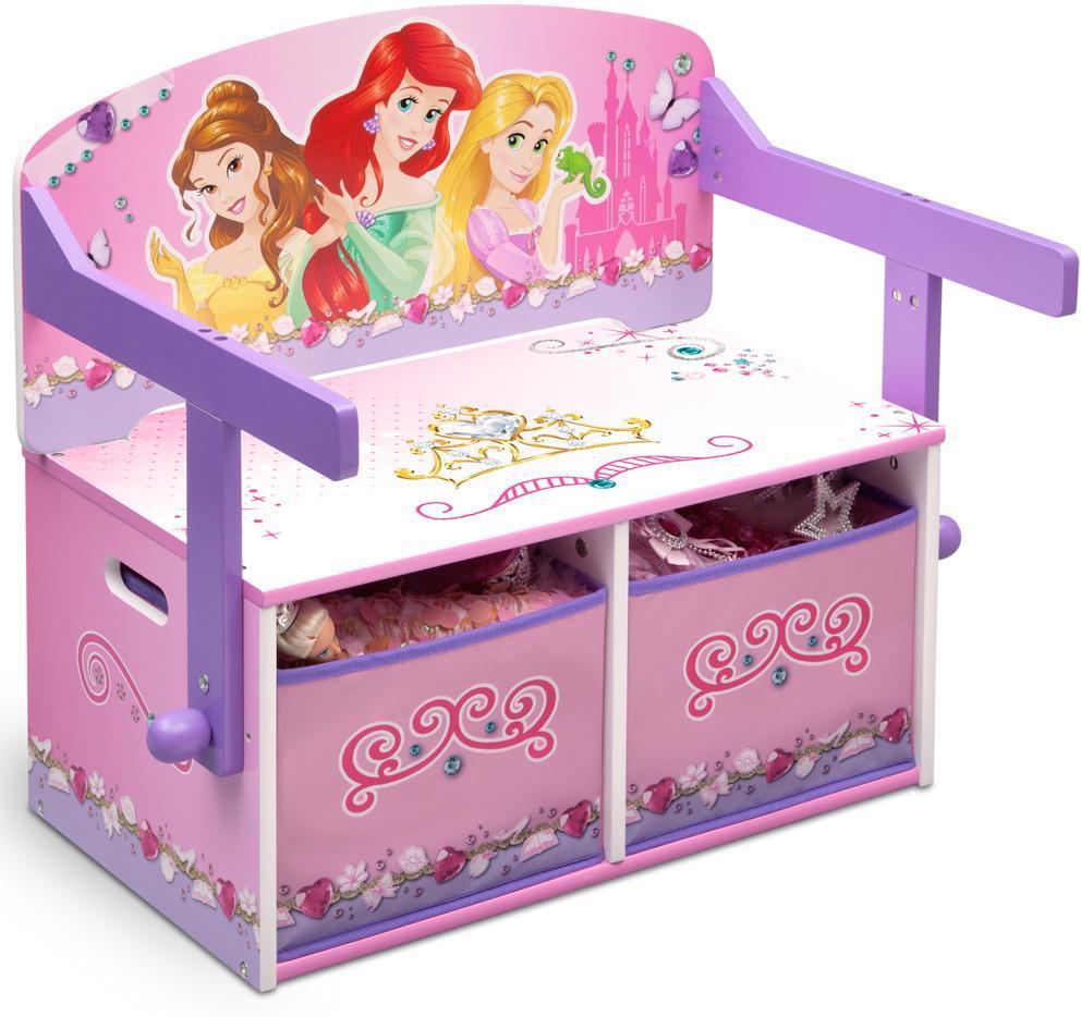 Image of Disney Prinsesse 3 i 1 bænk og bord - Disney Princess Borde og stole 043278 (199-043278)