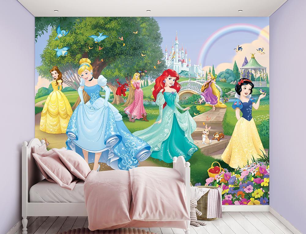 Image of Disney Princess tapet - Walltastic Disney 3D børnetapet 45354 (199-045354)