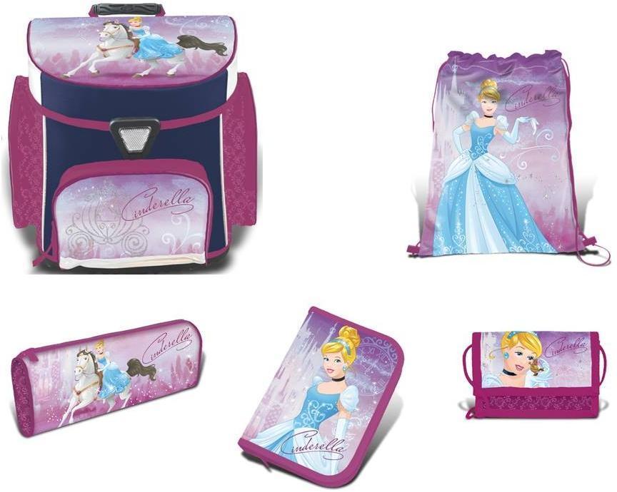 Image of Askepot Skoletaske sæt 5 dele - Disney Princess skoletaske 758608 (199-758608)