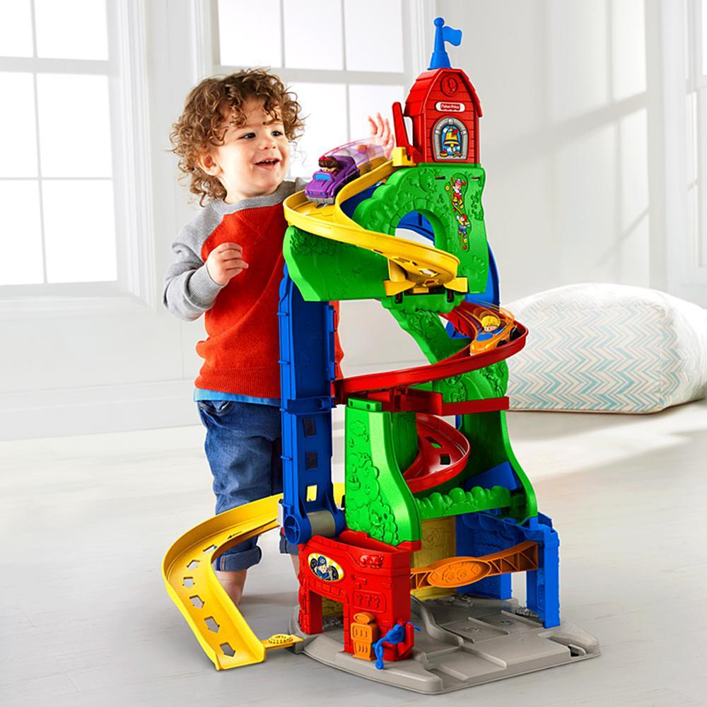 Image of Fisher Price Skyway bilbane 87 cm - Little People sit n stand bane DFT71 (20-0DFT71)