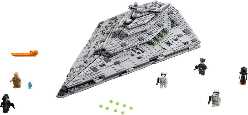 Image of First Order Star Destroyer - LEGO 75190 Star Wars Classic (22-075190)