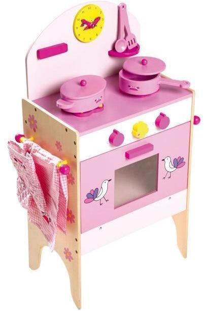 Legekøkken Pink med 8 dele - Legekøkken Pink med 8 dele