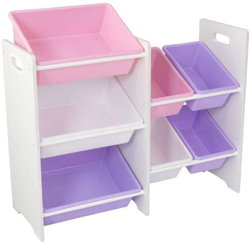 Opbevaringsreol med 7 kasser Hvid - Opbevaringsreol med 7 kasser Hvid