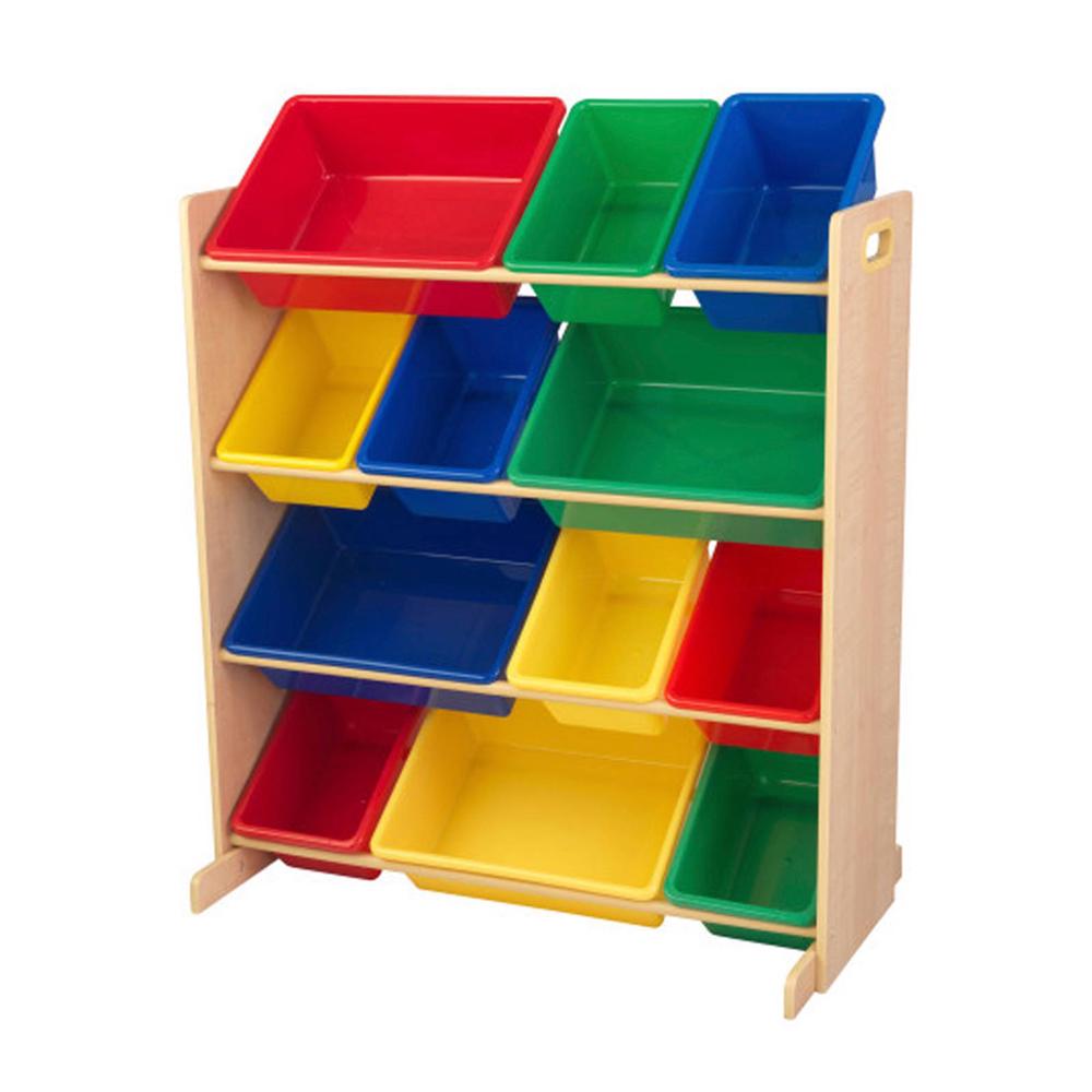 Opbevaringsreol med 12 kasser - Opbevaringsreol med 12 kasser