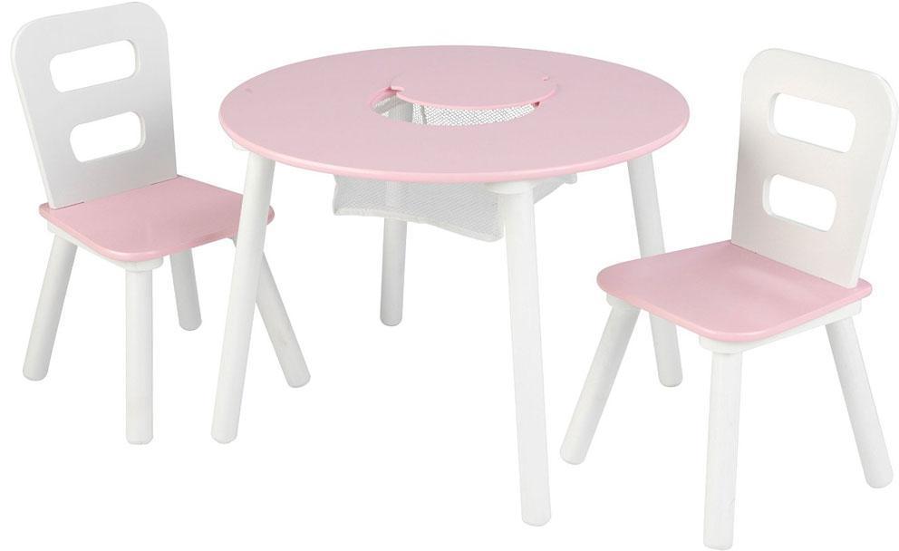 Image of kidkraft Bord og stole sæt pink - Bord stole sæt pink/hvid 26165 (226-026165)