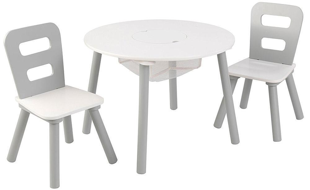 Image of kidkraft Bord og stole sæt - Bord stole sæt grå og hvid 26166 (226-026166)