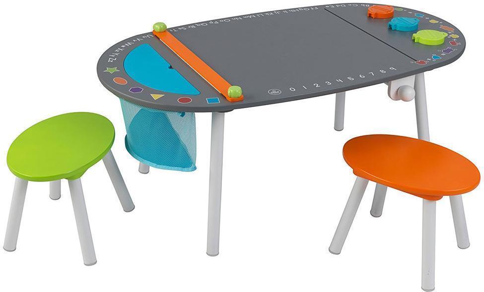 Image of Kidkraft tavle legebord - kidkraft bord og stole sæt 26956 (226-026956)
