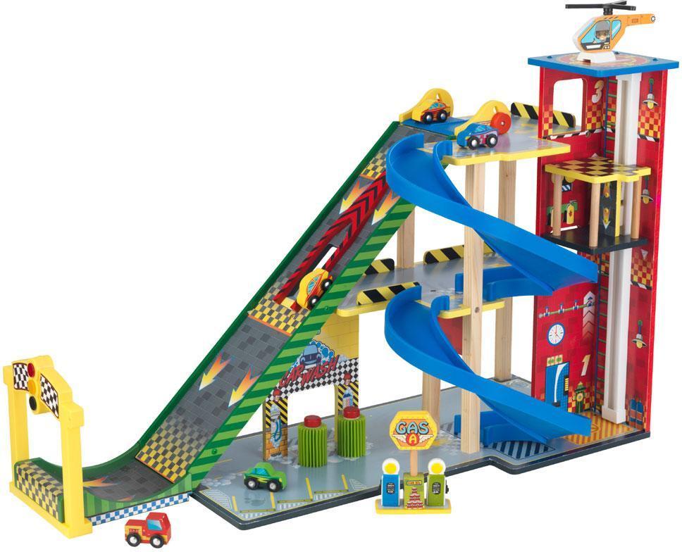 Image of Legegarage med rampe - Kidkraft Garager og vejbaner 63267 (226-063267)