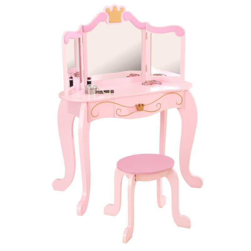 Image of   Prinsesse%20sminkebord%20og%20skammel - Prinsesse%20sminkebord%20og%20skammel