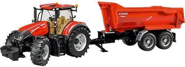 Image of Case IH Optum 300 CVX med Krampe trailer - Bruder 3199 (24-003199)