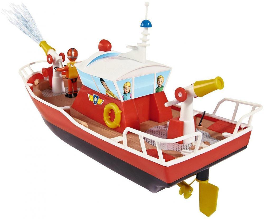 Image of Brandmand Sam RC Titan båd med figur - Brandmand Sam fjernstyret skib 037894 (241-037894)