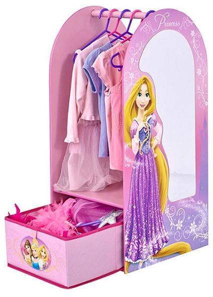 Image of Disney Princess Garderobe m. spejl - Disney princess børnemøbler 644119 (242-644119)