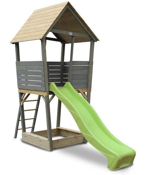 Legetårn med rutchebane - Legetårn med rutchebane